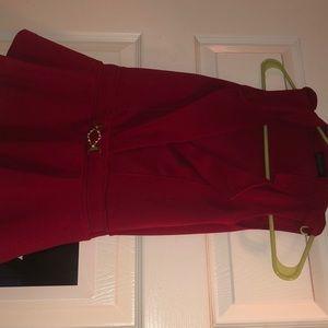 Red peplum shirt